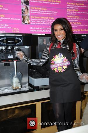 Melody Thornton visits Millions of Milkshakes in West Hollywood to create her own shake Los Angeles, California - 25.02.10