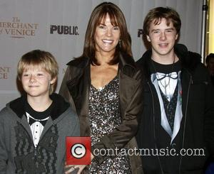 Carolyn McCormick and her sons  Opening night celebration of The Public Theater Broadway production of 'The Merchant of Venice'...