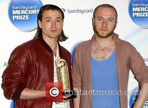 Hayden Thorpe (L) and Tom Fleming of Wild Beasts Mercury Prize Nominations at The Hospital.  London, England - 20.07.10