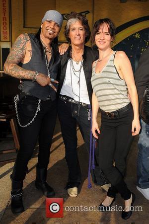 Mikki Free, Joe Perry and Juliette Lewis the Miami Dolphins Celebrity Orange Carpet at Sun Life Stadium in Miami Miami,...