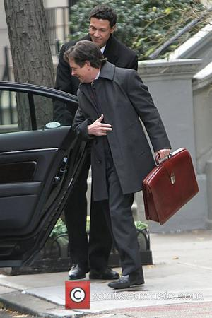 Michael J. Fox shooting on the set of 'The Good Wife' in Manhattan New York City, USA - 07.12.10