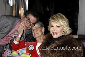 Michael Musto, his mom, and Joan Rivers  Michael Musto's 25th Anniversary At 'The Village Voice' celebration at 230 Fifth...