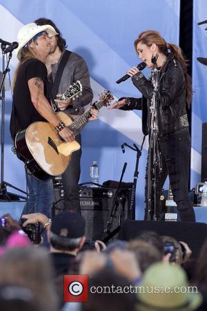 Bret Michaels and Miley Cyrus