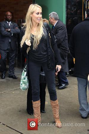Leticia Cyrus leaving ABC studios. New York...