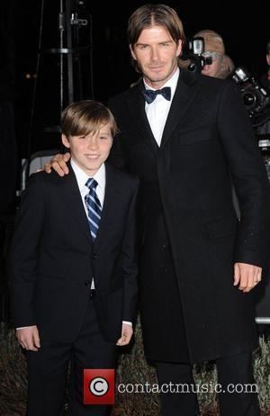 David Beckham and Brooklyn