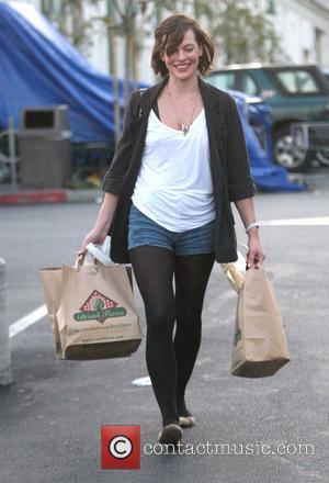 Milla Jovovich shopping at Bristol Farms in Hollywood Los Angeles, California - 10.02.10