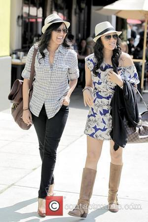 Tia Mowry and Tamera Mowry leaving Toast Bakery and Cafe after having lunch Los Angeles, California - 02.04.10
