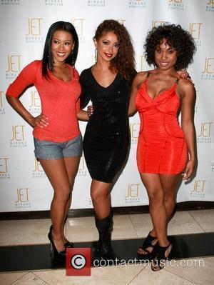 Denyce Lawton, Mya and Angell Conwell Mya hosts an evening at Jet nightclub inside The Mirage Resort Hotel Casino Las...
