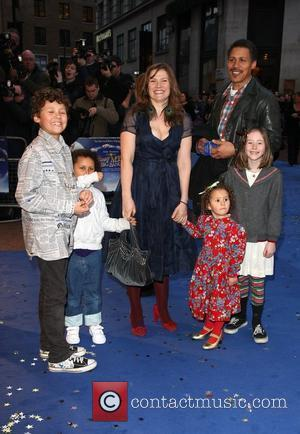 Jessica Hynes and family 'Nanny McPhee And The Big Bang' UK film premiere held at the Odeon West End -...