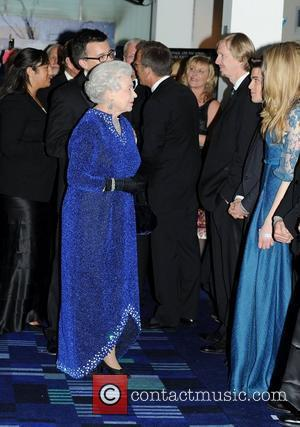 Queen Elizabeth ll meets cast and crew at the Royal Premiere of 'The Chronicles of Narnia: The Voyage of the...