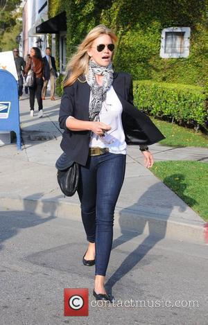 Natasha Henstridge leaves a hair salon in Beverly Hills Los Angeles, California - 25.03.10