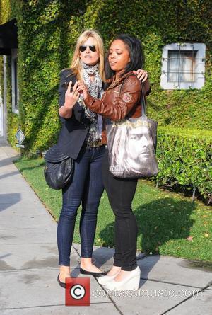 Natasha Henstridge leaves a hair salon in Beverly Hills Los Angeles, California - 25.03.10