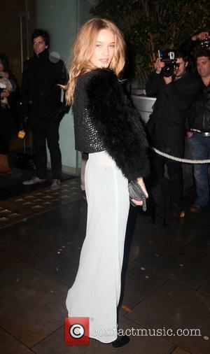 Rosie Huntington-Whiteley arrives for the National Ballet of Nutcracker at St Martins Hotel London, England - 16.12.09