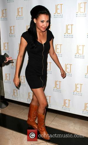 Naya Rivera celebrates her birthday with fellow 'Glee' cast members at Jet nightclub inside The Mirage Resort Hotel Casino Las...