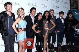 Cory Monteith, Heather Morris, Harry Shum Jr., Jenna Ushkowitz, Naya Rivera, Chord Overstreet, Kevin McHale and Amber Riley Glee's Naya...