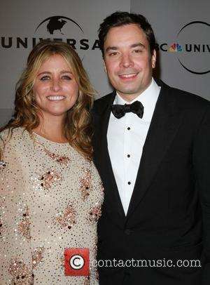 Jimmy Fallon and Nancy Juvonen