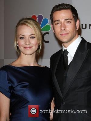 Yvonne Strahovski and actor Zachary Levi  NBC Universal's 68th Annual Golden Globes After Party held at The Beverly Hilton...