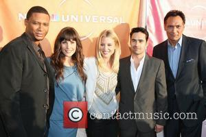 David Ramsey, Carly Pope, Ellen Woglom, Jesse Bradford and Jimmy Smits cast of Outlaw NBC Universal's 2010 TCA Summer Party...