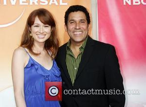 Ellie Kemper and Oscar Nunez  NBC Universal's 2010 TCA Summer Party held at the Beverly Hilton Hotel Beverly Hills,...