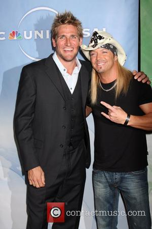 Curtis Stone and Brett Michaels The NBC Universal Winter Press Tour cocktail party held at the Langham Huntington hotel Los...