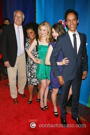 Chevy Chase, Yvette Nicole Brown, Gillian Jacobs, Alison Brie, D 2010 NBC Upfront presentation at The Hilton Hotel New York...