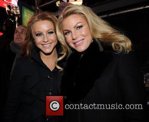Julianne Hough and sister Marabeth Hough 2011 New Years Eve celebrations in Times Square  New York City, USA -...