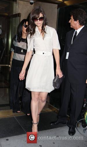 Katie Holmes and Calvin Klein