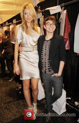 Katrina Bowden and Christian Siriano Mercedes-Benz IMG New York Fashion Week Spring/Summer 2011 - Christian Siriano - backstage New York...