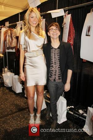 Katrina Bowden and Christian Siriano Mercedes-Benz IMG New York Fashion Week Spring/Summer 2011 - Christian Siriano - backstage New York...