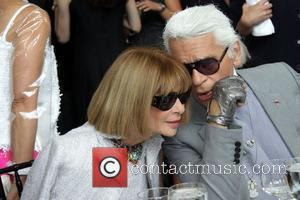 Anna Wintour and Karl Lagerfeld  The Couture Council of The Museum at the Fashion Institute of Technology honours Karl...