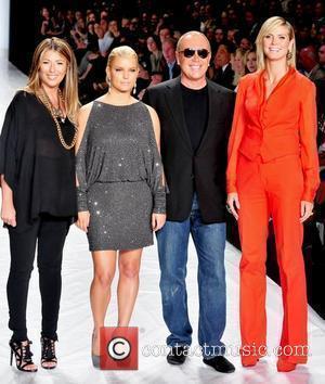 Nina Garcia, Heidi Klum, Jessica Simpson and Michael Kors
