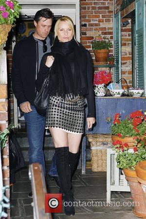 Nicollette Sheridan and boyfriend Steven Pate leaving Ivy restaurant in West Hollywood Los Angeles, California - 11.03.10