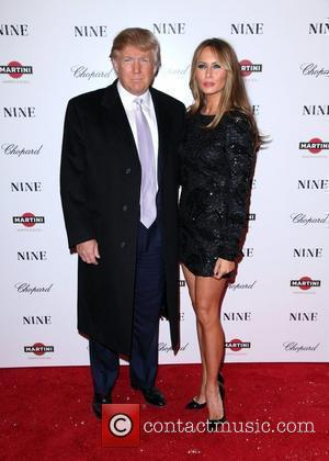 Donald Trump and Melania Knauss New York premiere of 'Nine' sponsored by Chopard at the Ziegfeld Theatre New York City,...