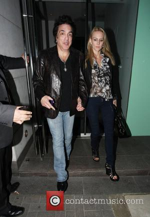 Paul Stanley of rock band 'Kiss' and a female companion leave Nobu restaurant London, England - 17.05.10