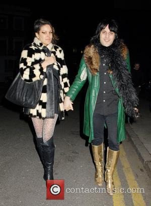 Noel Fielding leaving the O2 Academy, Islington with a friend after watching 'Kiss' perform a warm up gig ahead of...
