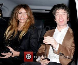 Sara MacDonald and Noel Gallagher leaving Nobu Park Lane restaurant together after having dinner London, England - 22.10.10