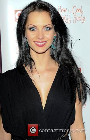 Jessica Jane Clement,  at the 'How To Cook In High Heels' book launch party held at Studio Valbonne. London,...