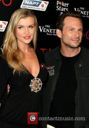 Joanna Krupa and Christian Slater Celebrities at PokerStars.net North American Poker Tour At The Venetian to support Local Vegas Charity...