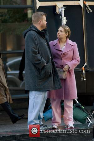 Stephen Wallem and Merritt Wever Filming on the set of  Nurse Jackie on location in Manhattan New York City,...