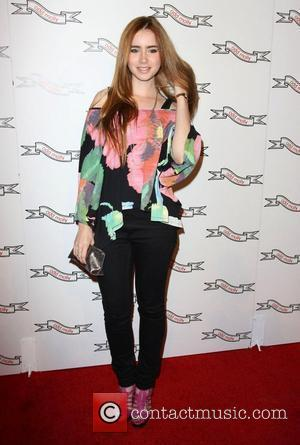 Lily Collins Odd Molly flagship store opening held at the Odd Molly boutique in Beverly Hills - Arrivals Los Angeles,...