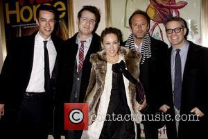 Jon Robin Baitz, John Benjamin Hickey, Sarah Jessica Parker and Andy Cohen Opening night of the Lincoln Center production of...