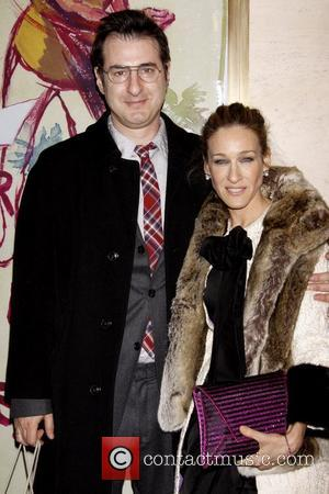 Jon Robin Baitz and Sarah Jessica Parker Opening night of the Lincoln Center production of 'Other Desert Cities by Jon...