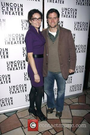 Laura Benanti and Steven Pasquale  Opening night after party for the Lincoln Center production of 'Other Desert Cities by...