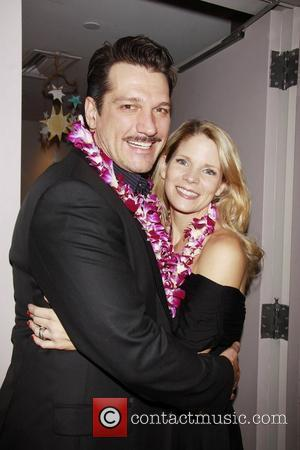 Paulo Szot and Kelli O'Hara  Closing night of the Lincoln Center Theater production of South Pacific'' at the Vivian...