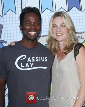 Harold Perrineau and his wife Brittany Perrineau The 2010 'Ultimate Slam PaddleJam' Celebrity Ping Pong Tournament held at The Music...