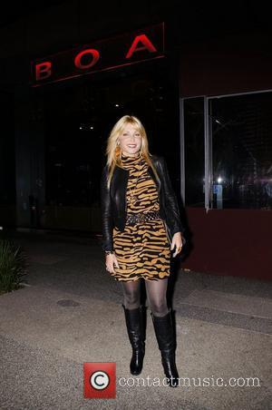 Pamela Bach outside BOA restaurant Los Angeles, California - 12.12.10