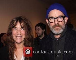 Patti Smith and Michael Stipe