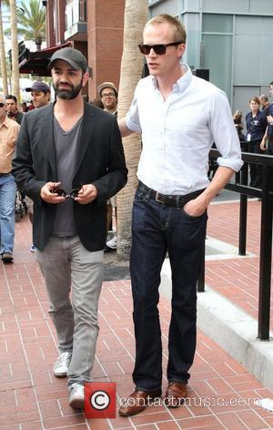 Paul Bettany and a friend are seen leaving the Hard Rock Cafe. San Diego, California - 24.07.10