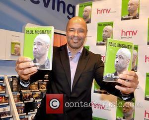 Paul McGrath retired Irish football legend signs copies of his DVD 'My Life and Football' at HMV Dublin, Ireland -...