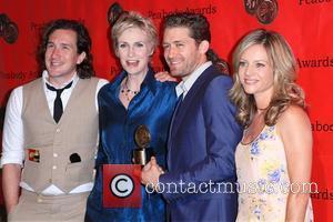 Jane Lynch, Ian Brennan, Jessalyn Gilsig and Matthew Morrison